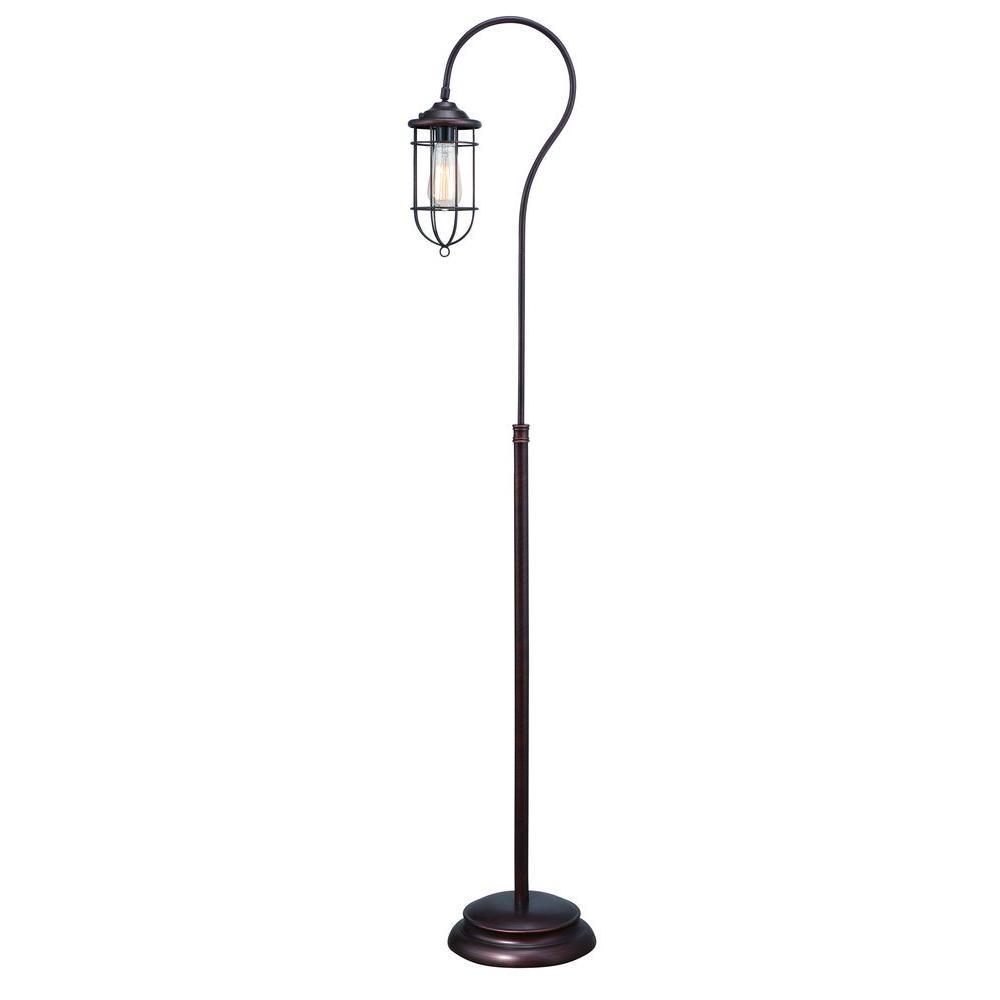 Reddish Bronze Vintage Floor Lamp