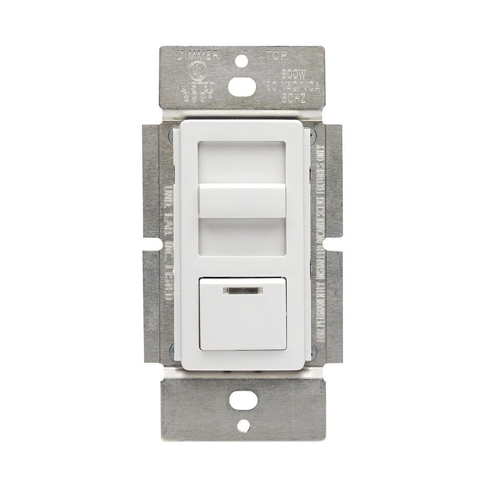 1.5-Amp Decora Illumatech Single Pole Step Fan Speed Control With Preset Button, White/ Ivory/ Light Almond