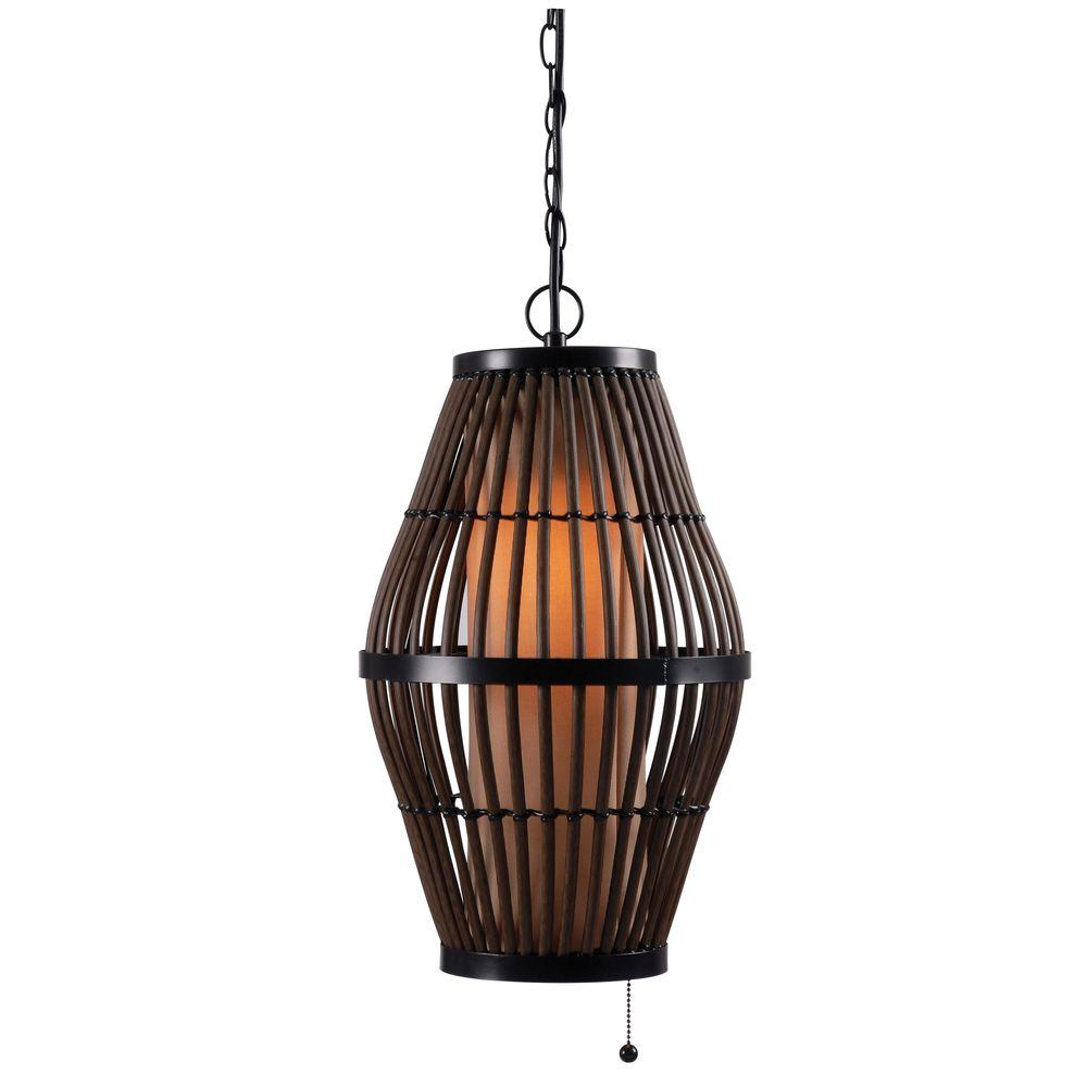 Biscayne 1 Light 12 In Rattan Outdoor Pendant 93390RAT