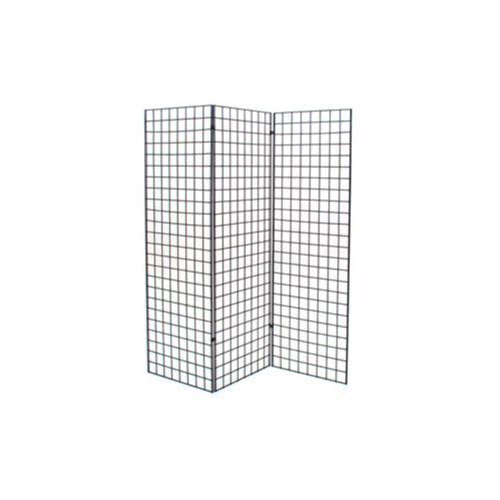 Only Hangers 72 in. H x 24 in. W Grid Wall Z Unit (Three Panels) Black