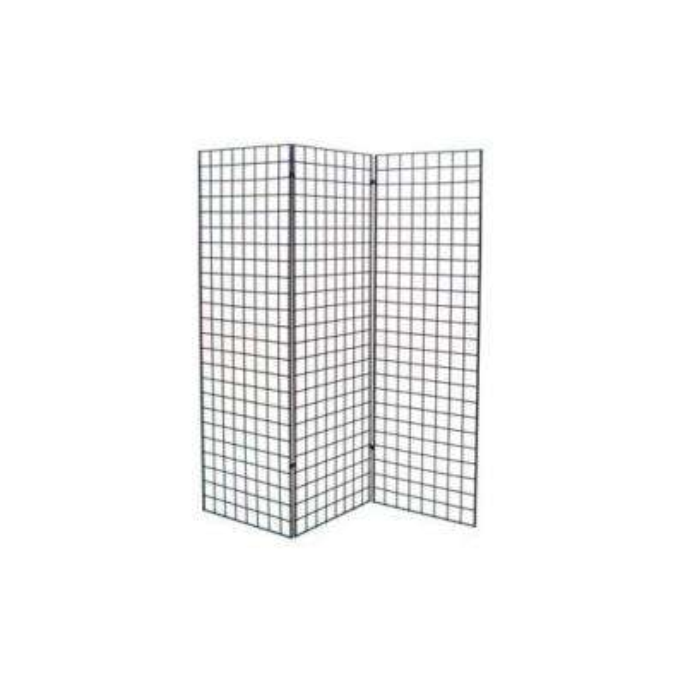 72 in. H x 24 in. W Grid Wall Z Unit (Three Panels) Black