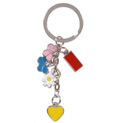 Heart, Butterfly and Flower Charms Key Chain (3-Pack)