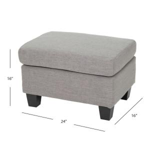 Marvelous Noble House Rosella Beige Fabric Ottoman 2629 The Home Depot Pabps2019 Chair Design Images Pabps2019Com