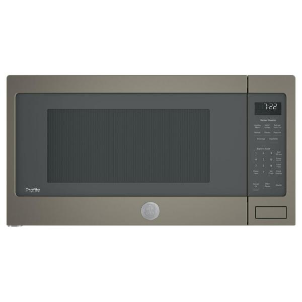 Profile 2.2 cu. ft. Countertop Microwave in Slate, Fingerprint Resistant with Sensor Cooking