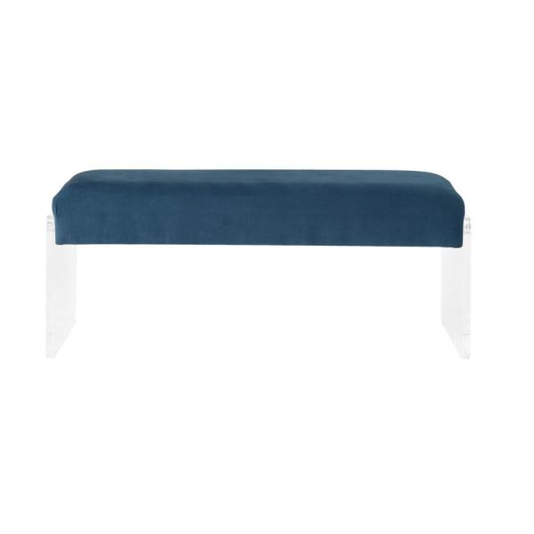 Acme Furniture Marah Teal and Clear Acrylic Bench 96712