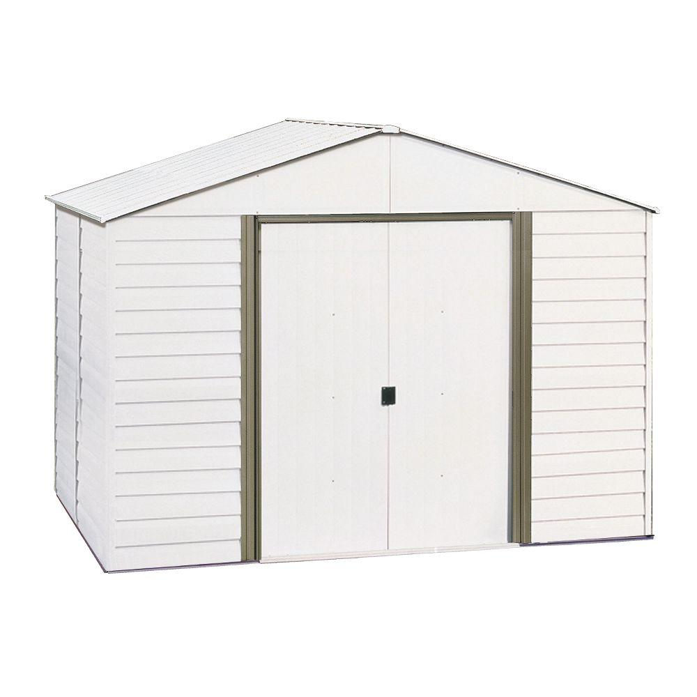 Arrow 10 ft. x 8 ft. Steel Storage Shed with Skylight Panels-DISCONTINUED