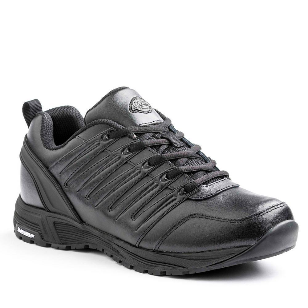 Dickies Apex Men Size 10.5 Wide Black Slip Resistant Safety Work Shoe