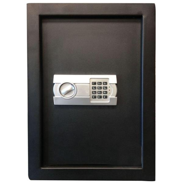 BUFFALO 0.58 cu. ft. Wall Safe with Electronic Lock, Black