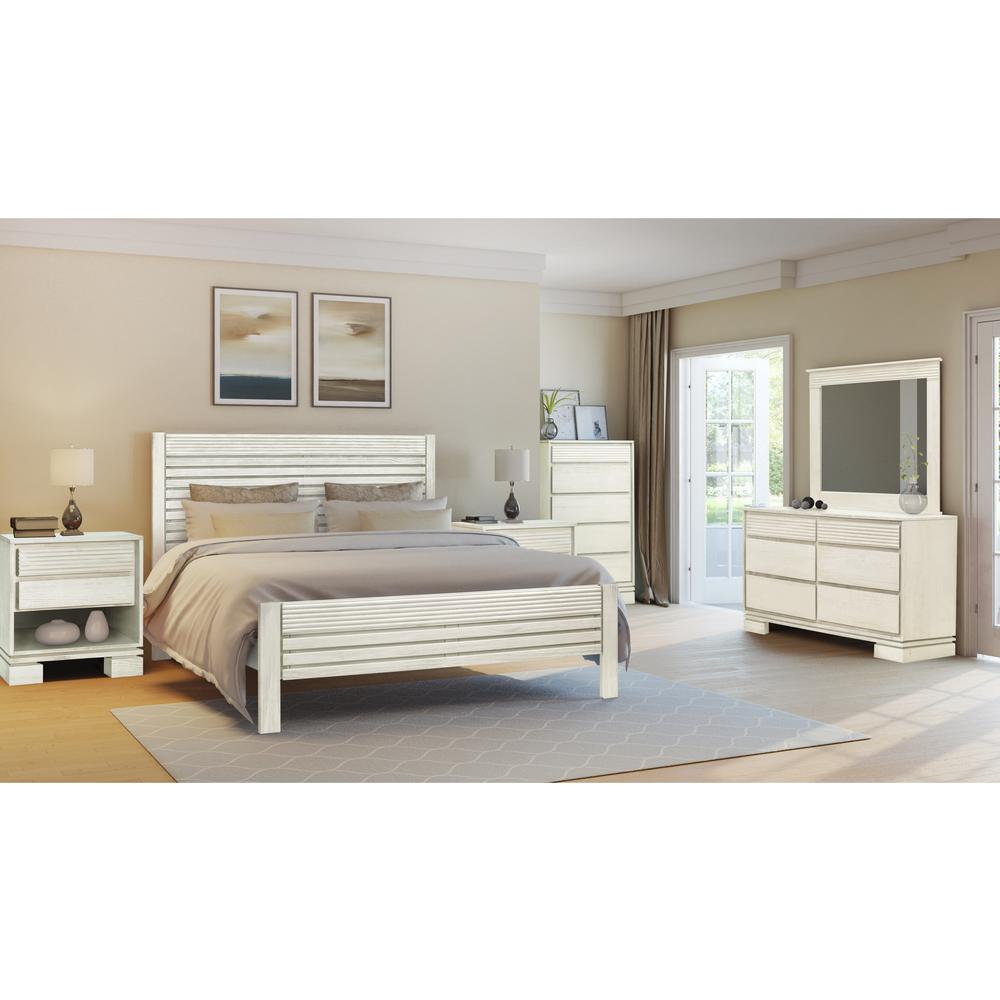 Artefama Furniture Vienna Off White King Platform Bed Frame