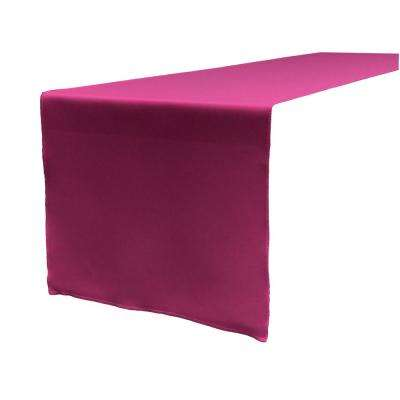 14 in. x 108 in. Magenta Polyester Poplin Table Runner