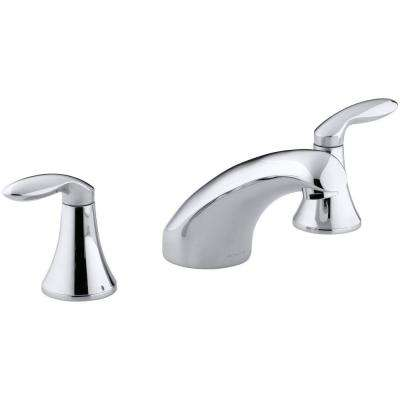 Coralais 2-Handle Roman Tub Faucet in Polished Chrome (Valve Not Included)