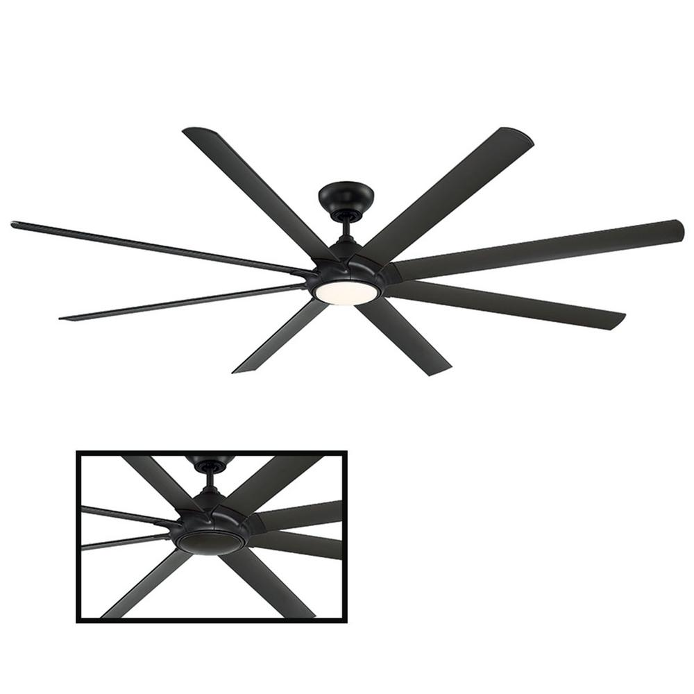 Modern Forms Hydra 96 in. LED Indoor/Outdoor Bronze 8-Blade Smart Ceiling Fan with 3000K Light Kit and Wall Control