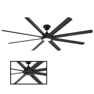 Hydra 96 in. LED Indoor/Outdoor Bronze 8-Blade Smart Ceiling Fan with 3000K Light Kit and Wall Control