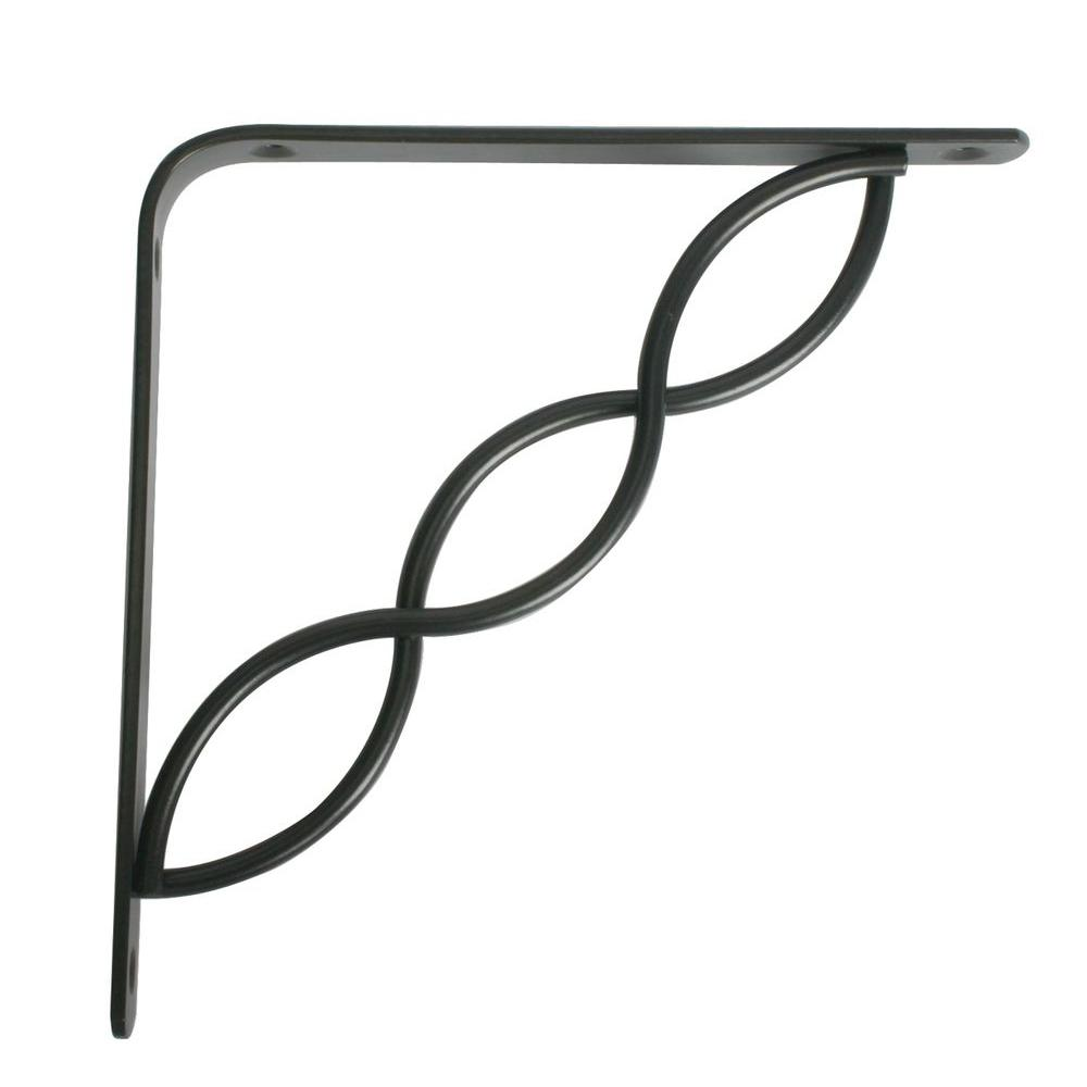 Knape & Vogt Concord 5.75 in. L x 0.75 in. W Black 50 lb. Decorative Shelf Bracket