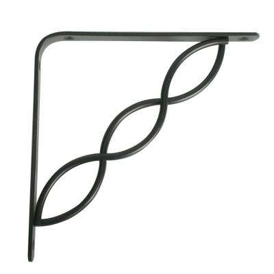 Concord 7.75 in. L x 0.75 in. W Black 50 lb. Decorative Shelf Bracket
