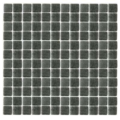 Spongez S-Black-1412 Mosiac Recycled Glass Mesh Mounted Floor and Wall Tile - 3 in. x 3 in. Tile Sample