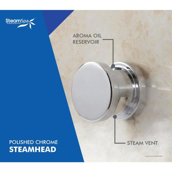 Steamspa Indulgence 9kw Quickstart Steam Bath Generator Package With Built In Auto Drain In Polished Chrome Int900ch A The Home Depot