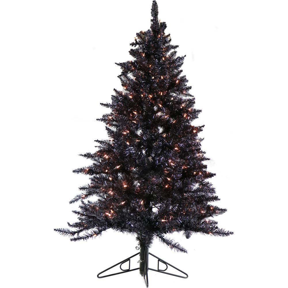 Tinsel Christmas Tree: Fraser Hill Farm 7 Ft. Festive Silver Tinsel Christmas