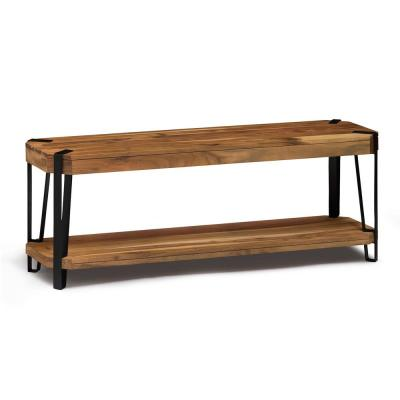 48 in. Ryegate Natural Solid Wood with Metal Bench