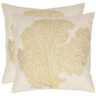 Spice-Fan Coral Coastal Pillow (2-Pack)