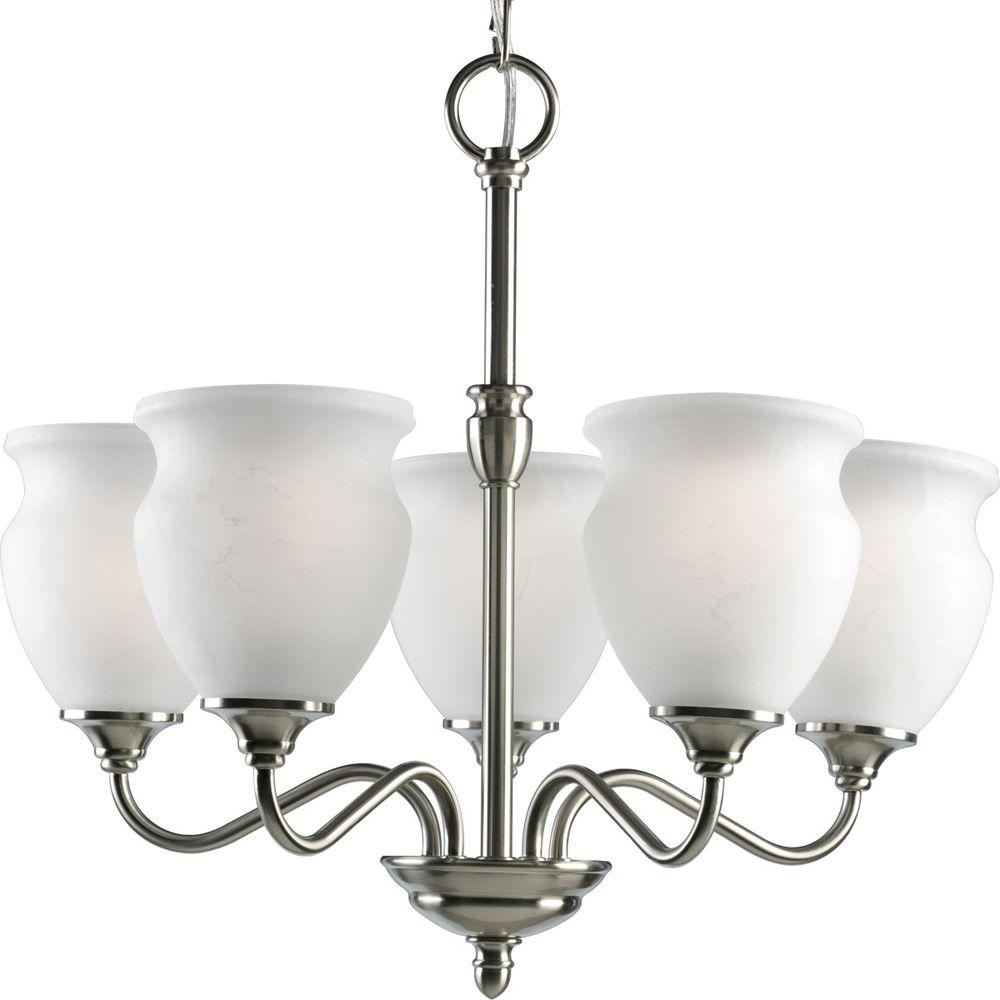 Progress Lighting Richmond Hill Collection Brushed Nickel 5-light Chandelier-DISCONTINUED