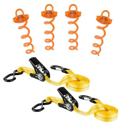 30 ft. x 1 in. Ratchet Severe Weather Tie-Down Kit (2-Pack)