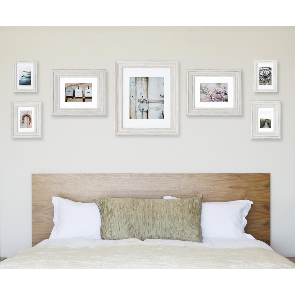 Pinnacle Gallery Perfect 11 in. x 14 in. Distressed White Collage ...