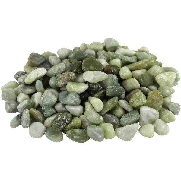 27.5 cu. ft. 1 in. to 2 in. Medium Green Jade Polished Pebbles