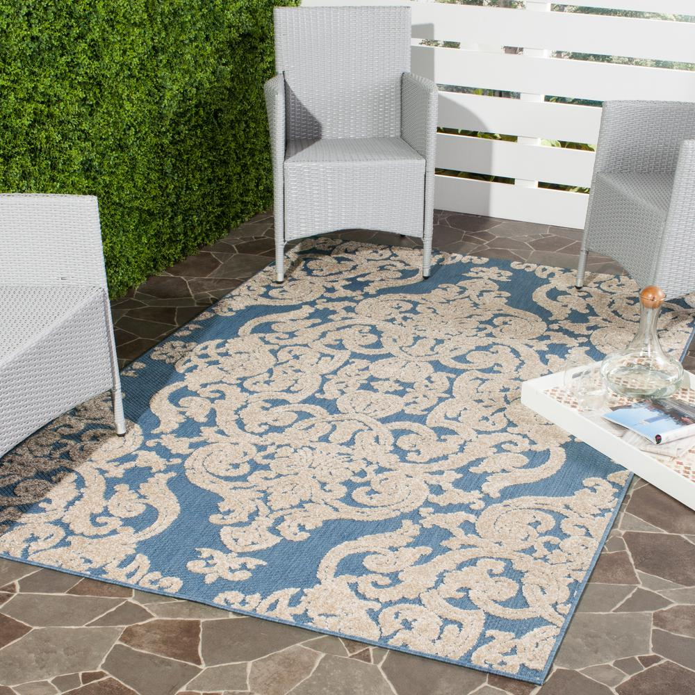 Safavieh Monroe Blue 9 Ft. X 12 Ft. Indoor/Outdoor Area Rug MNR152A 9   The Home  Depot