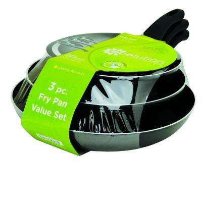 Elements Aluminum Frying Pan Set With Heat Resistant Handle
