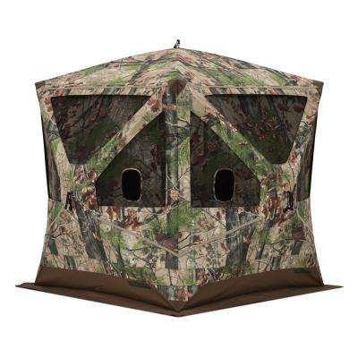 Big OX 3 Person Pop-Up Hunting Blind in Backwoods Camo