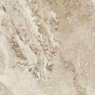 Take Home Sample - Light Travertine Peel and Stick Vinyl Tile Flooring - 5 in. x 7 in.