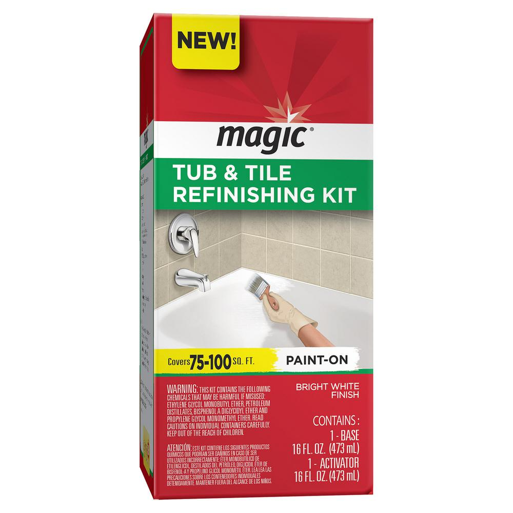 Magic 16 oz. Bath Tub and Tile Refinishing Kit in White-3124 - The ...
