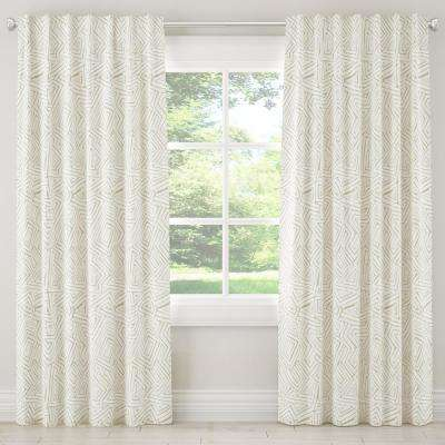 50 in. W x 96 in. L Unlined Curtain in Maze Gesso