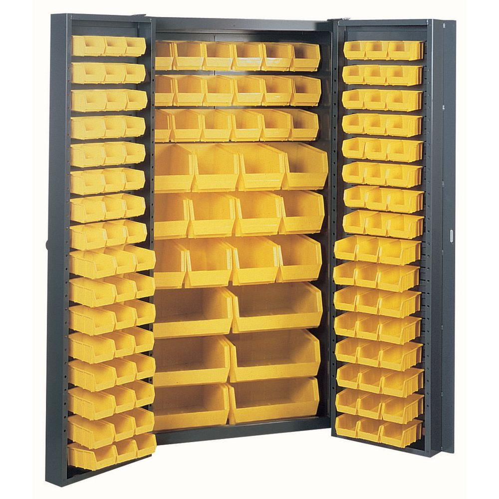 D Welded Steel Freestanding Storage Cabinet With 132 Bins Bc6200g The Home Depot