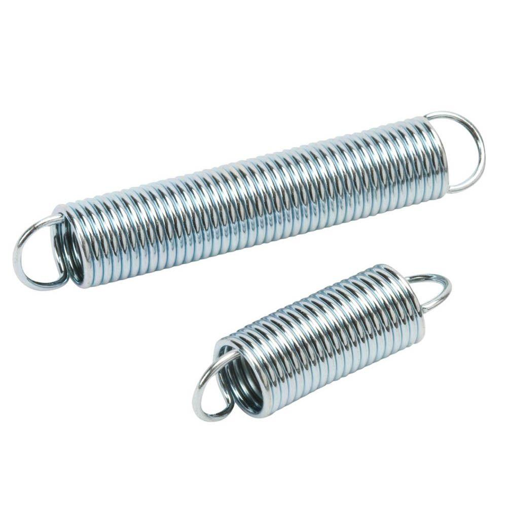 Everbilt 7/16 in. x 1-1/2 in. and 7/16 in. x 2-1/2 in. Zinc-Plated Extension Spring (4-pack)