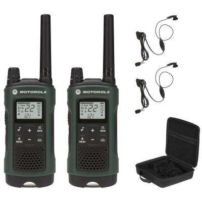 Talkabout T465 FRS/GMRS 2-Way Radios with 35 Mile Range and NOAA Notifications in Green