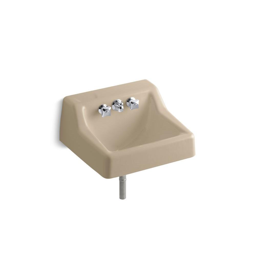 KOHLER Hampton Wall-Mount Bathroom Sink in Mexican Sand-DISCONTINUED