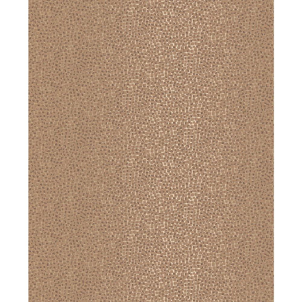 Brewster Ostinato Copper Geometric Wallpaper Sample