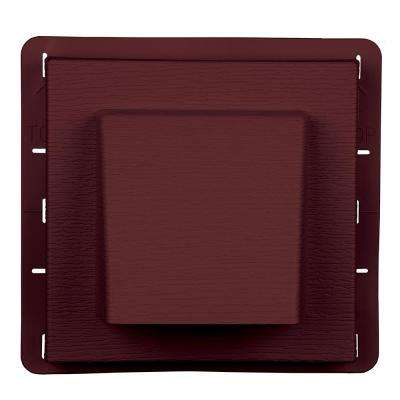 8 in. x 7.875 in. Water Management 4 in. Hooded Vent in Wineberry