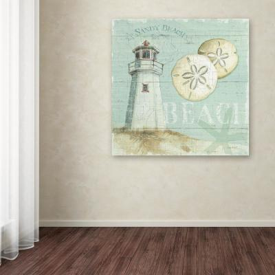 """14 in. x 14 in. """"Beach House I"""" by Lisa Audit Printed Canvas Wall Art"""