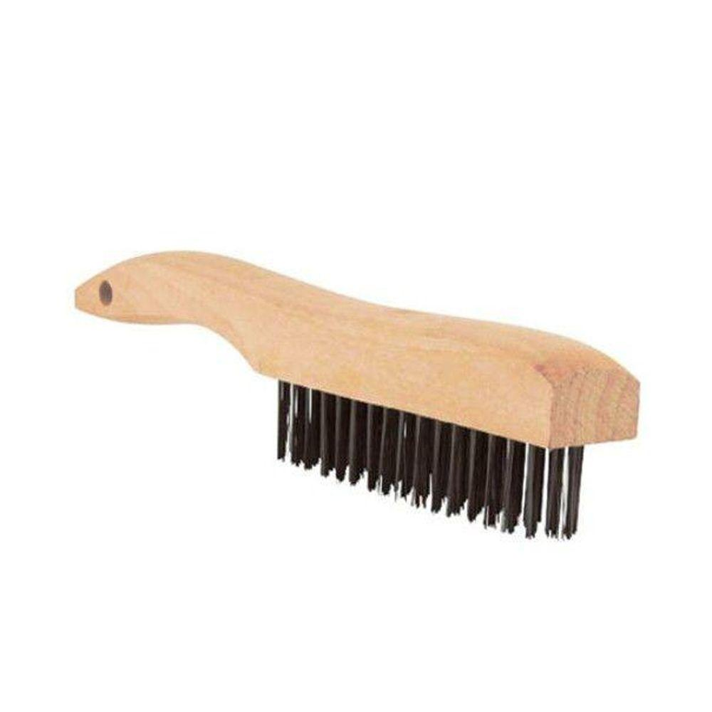 Lincoln Electric Wooden Shoe Handle Carbon Steel Brush