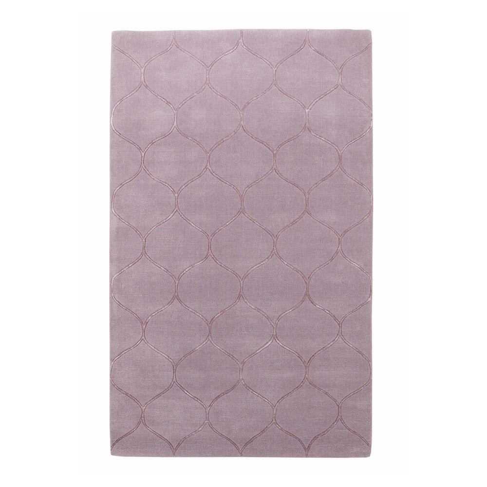 Kas Rugs Simple Scallop Lavender 2 ft. 6 in. x 4 ft. 2 in. Area Rug
