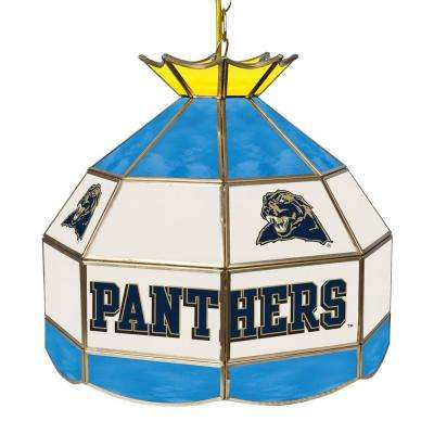 University of Pittsburgh 16 in. Gold Billiard Hanging Tiffany Light