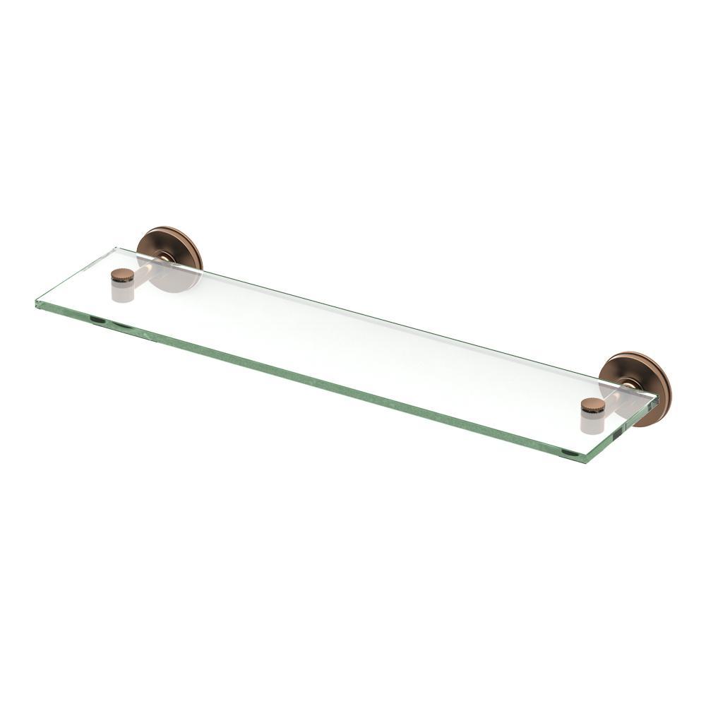 Gatco Montgomery 20 in. W Glass Shelf in Bronze-4496 - The Home Depot