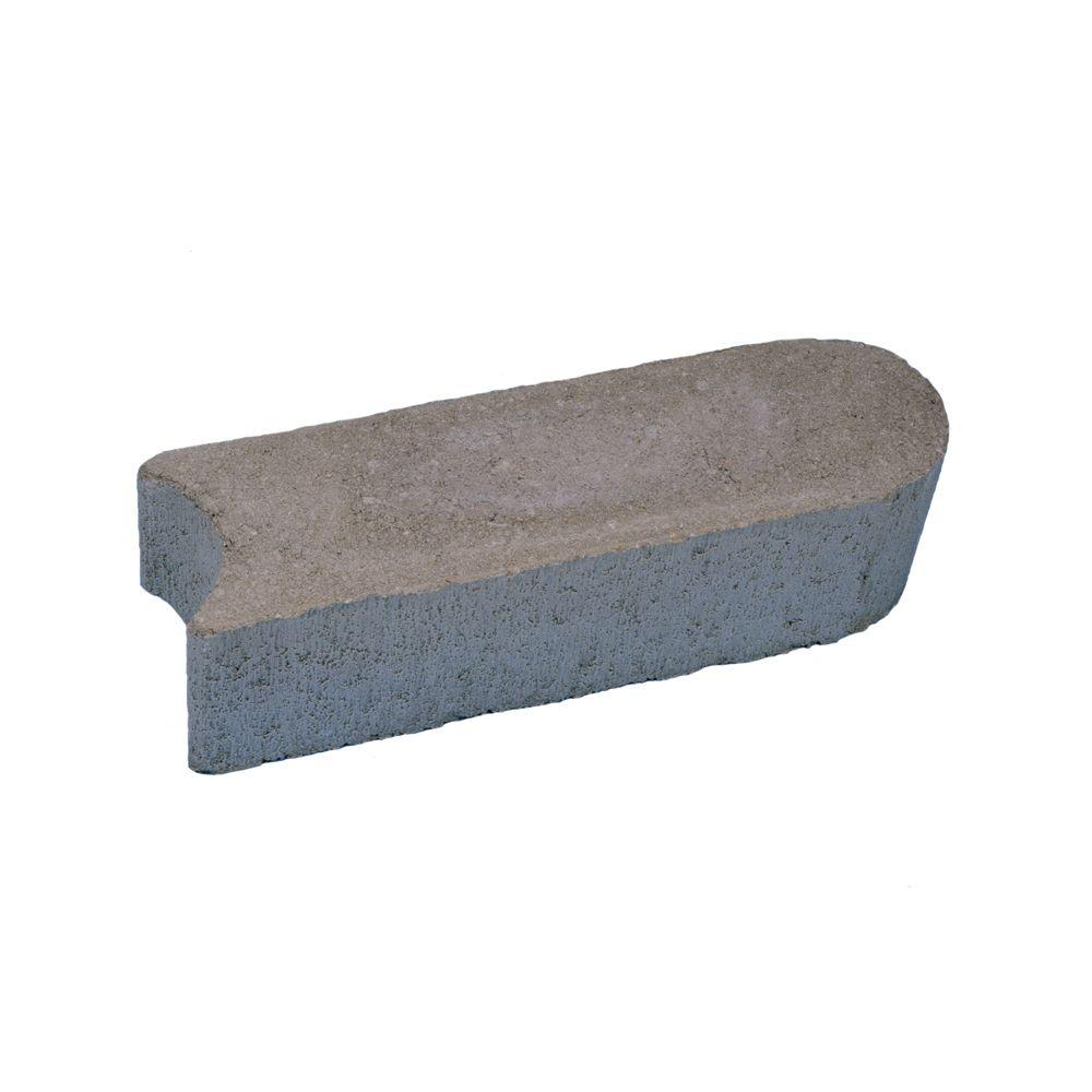 Flat Stone Edging: Basalite 12 In. Grey Concrete Edgestone-100002833