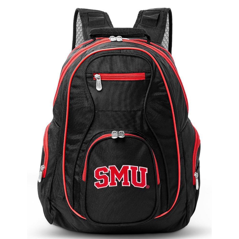 NCAA Southern Methodist Mustangs 19 in. Black Trim Color Laptop Backpack