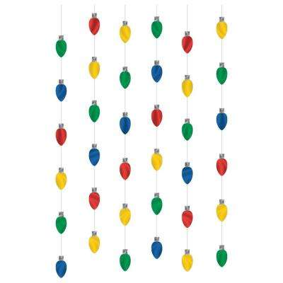 7 ft. Christmas Lights Foil String Decoration (6-Count, 3-Pack)