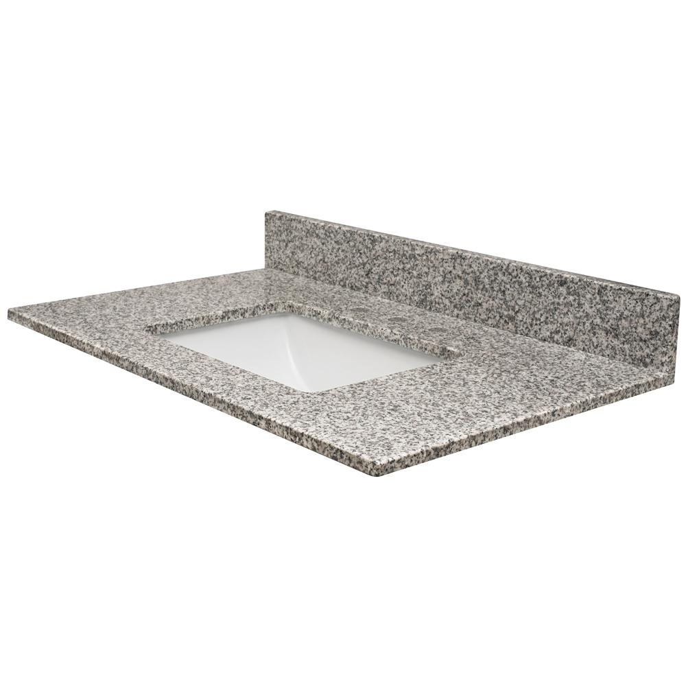 49 in. W x 22.5 in. D Granite Vanity Top in
