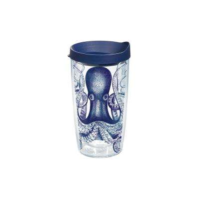 Octopus 16 oz. Double Walled Insulated Tumbler with Travel Lid